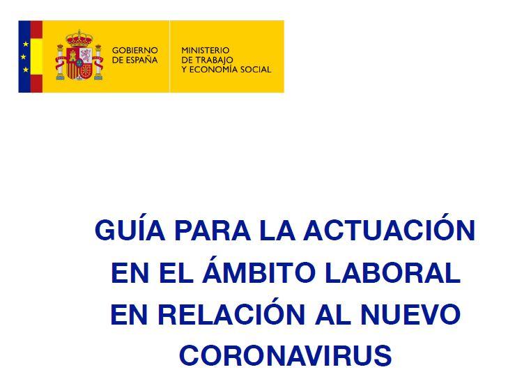 Guia para la actuación en el ámbito laboral en relación al nuevo coronavirus